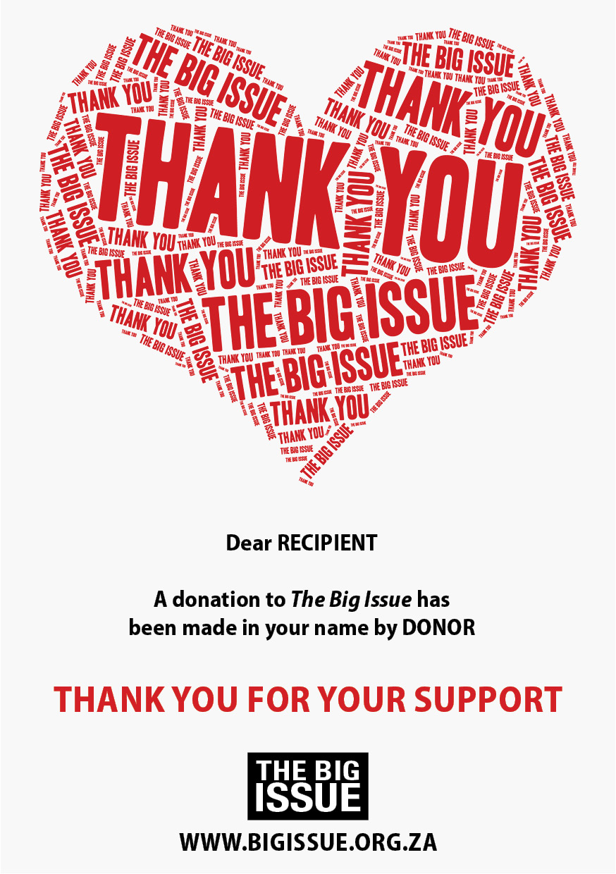 The Big issue gift card